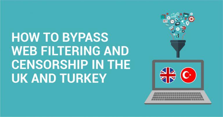 Internetcensuur  en internetfiltering omleiden in het Verenigd Koninkrijk en Turkije